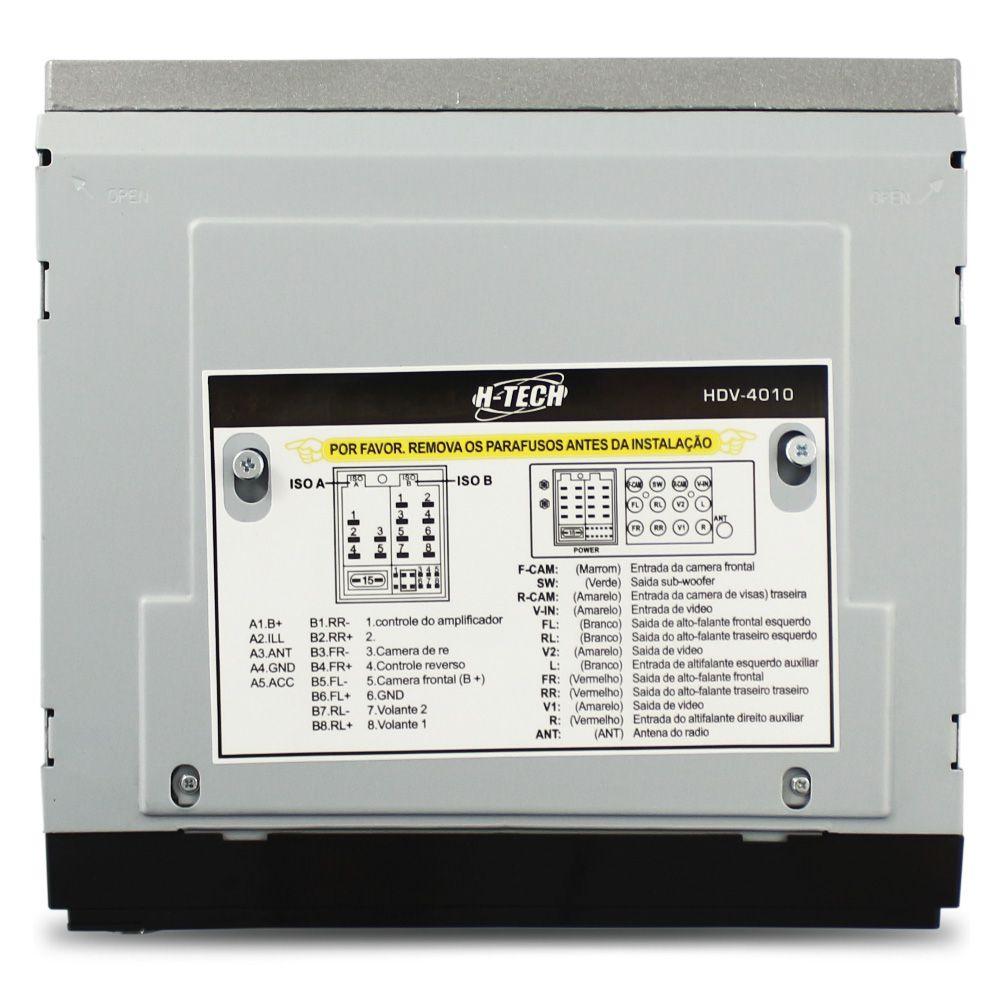 Dvd 2 Din Tela 6.2 Pol Bluetooth Espelhamento H-Tech