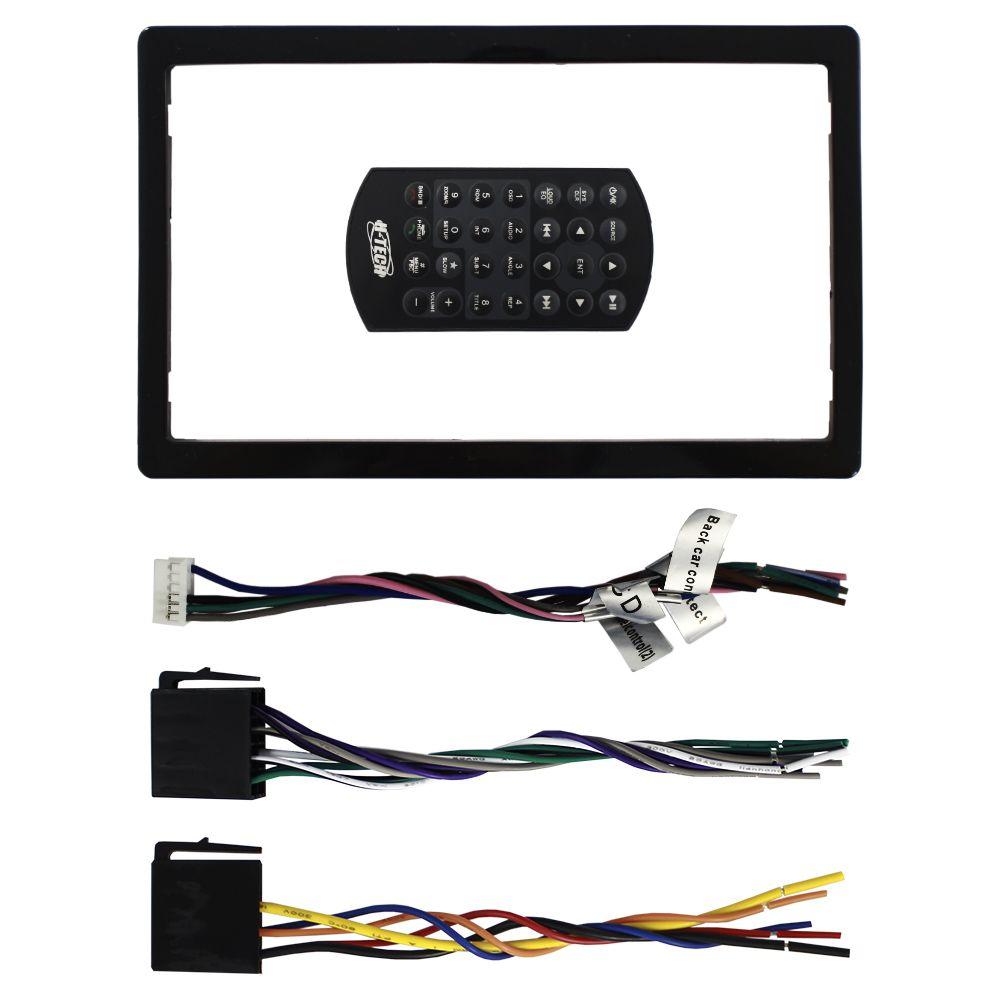 Dvd Player Automotivo 2 Din 6.2 Polegadas H-Tech HDV-4010 Bluetooth Espelhamento Android Usb Aux Entrada Camera Ré