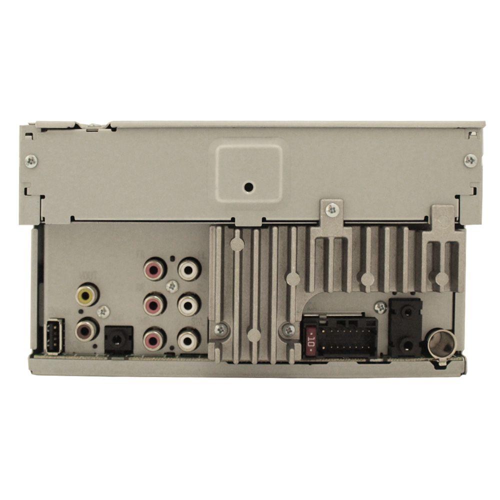 Dvd Player Automotivo 2 Din Tela 6.2 Polegadas Pionner AVH-A208BT Bluetooth Usb Fm Entrada Câmera Ré Comando Som Volante