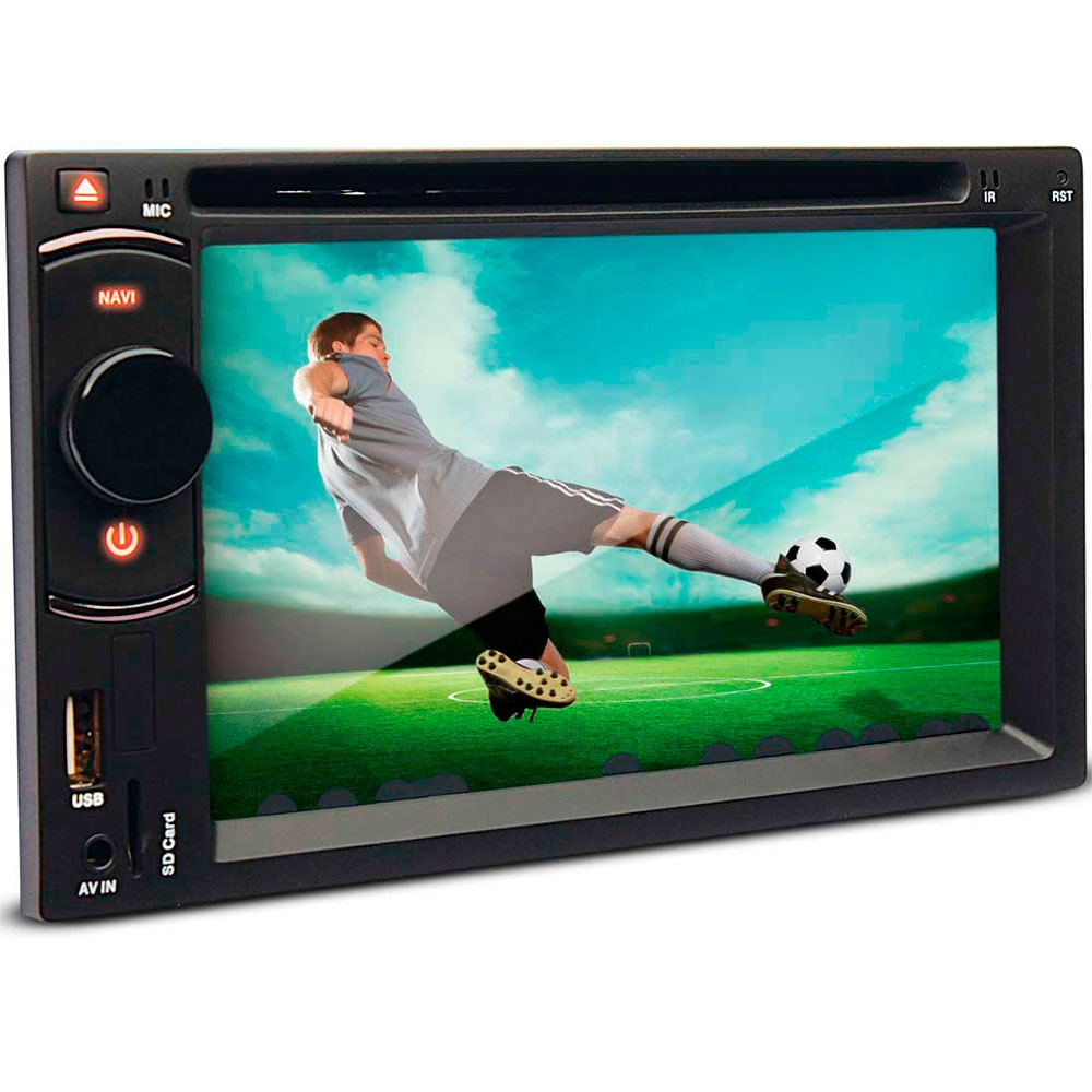 Dvd Player 2 Din Tela 6.2 Pol Dazz 2 Din Bluetooth Usb