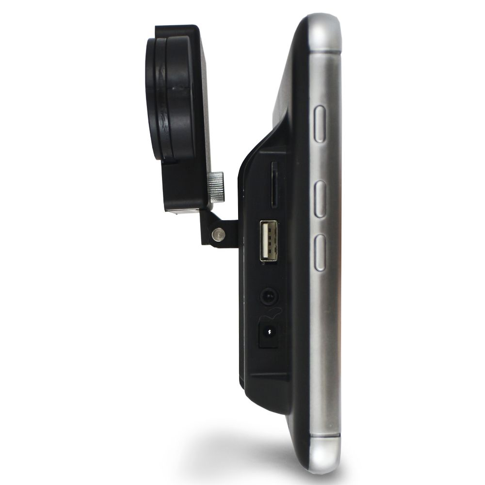 Encosto Cabeça Acoplar H-Tech Tela 8 Polegadas Monitor Espelhamento Android Bluetooth Usb Sd Card Universal