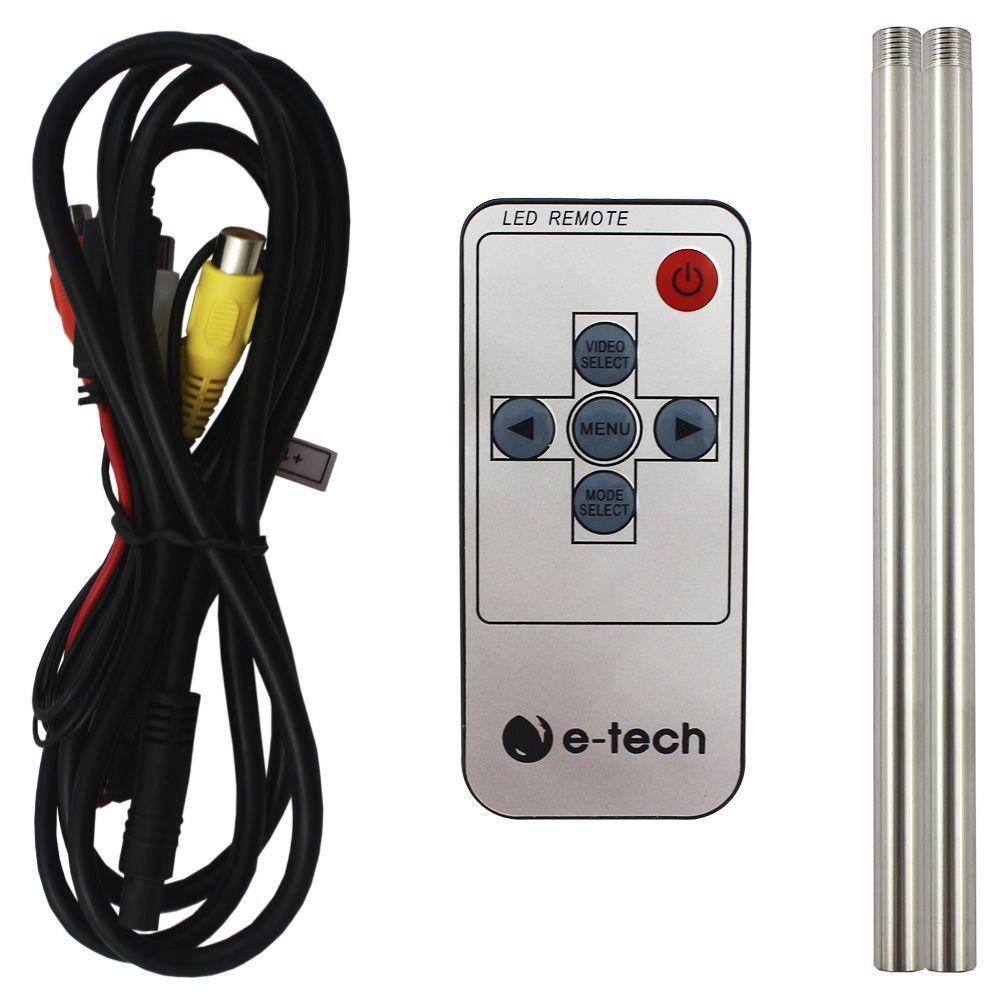 Encosto Cabeça Automotivo Tela 7 Polegadas E-Tech Monitor Escravo Ajuste Altura Universal