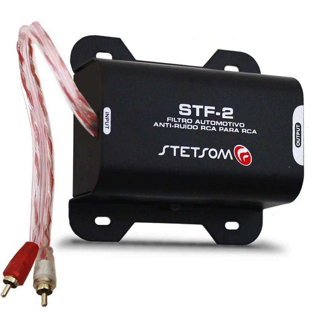 Filtro Anti Ruído Stetsom Supressor STF-2 Rca Som Automotivo Cd Dvd Mp3 Mp5 Player