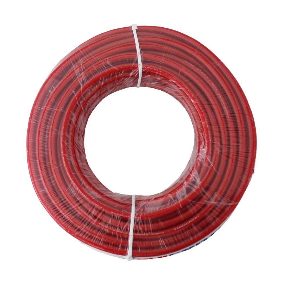 Fio Cabo 21mm Flexível Cristal Vermelho Tcn 25 Metros