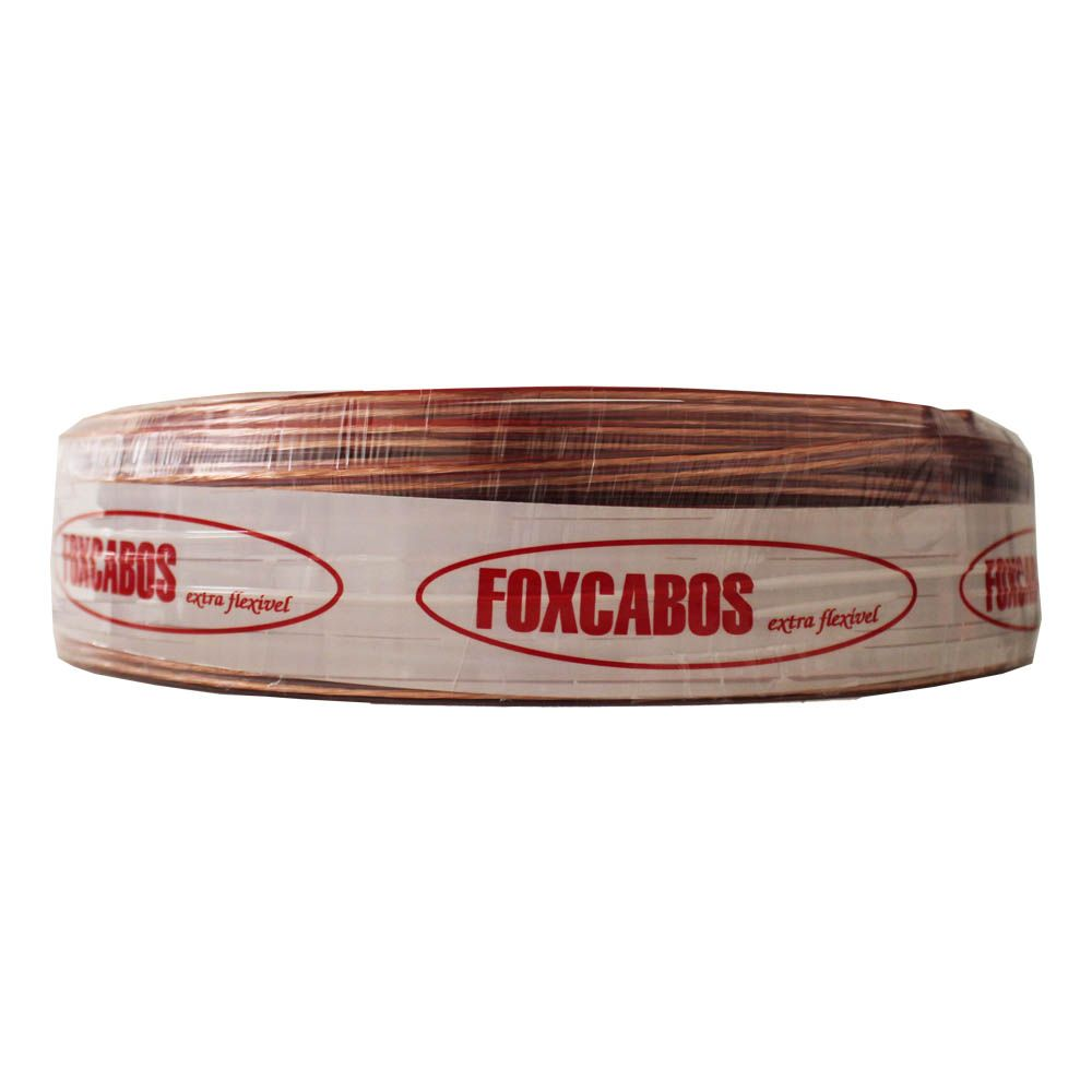 Fio Paralelo 2x1,50 mm 2x14 Cristal Fox Cabos 100 metros