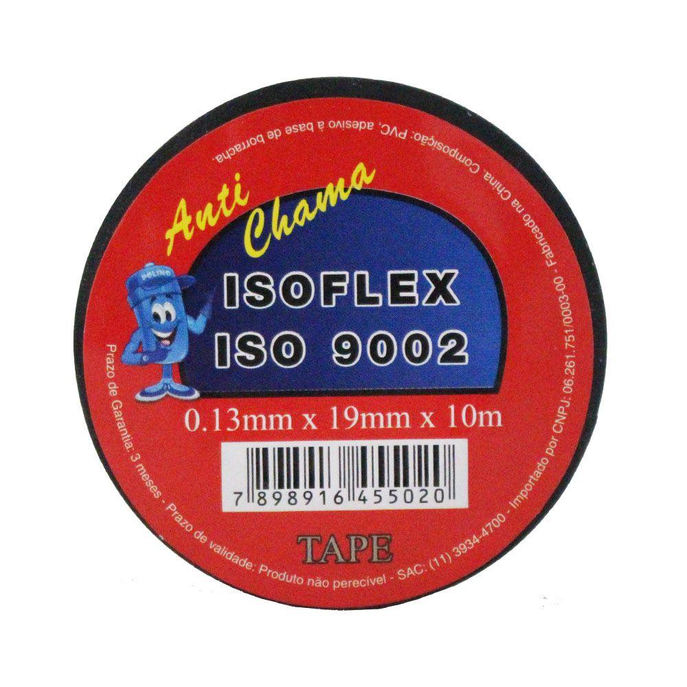 Fita Isolante Isoflex Anti Chama 19 mm x 10 m 10 peças