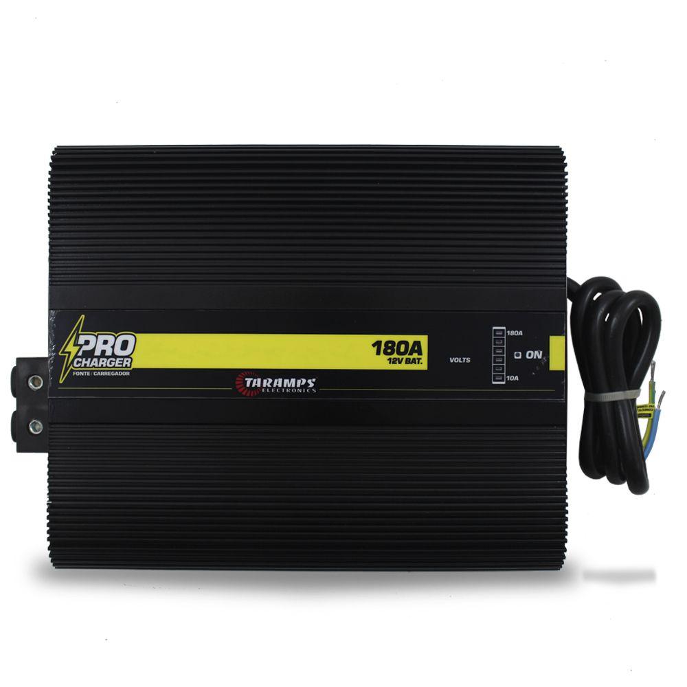 Fonte Automotiva Taramps 180-a Pro Charger Bivolt Digital 12v Smart Cooler Voltímetro Amperímetro Carregador