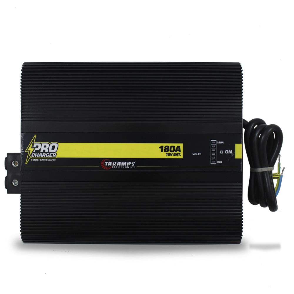 Fonte Automotiva Taramps 180-a Pro Charger Bivolt Digital 12v Smart Cooler Voltímetro Amperímetro Carregador