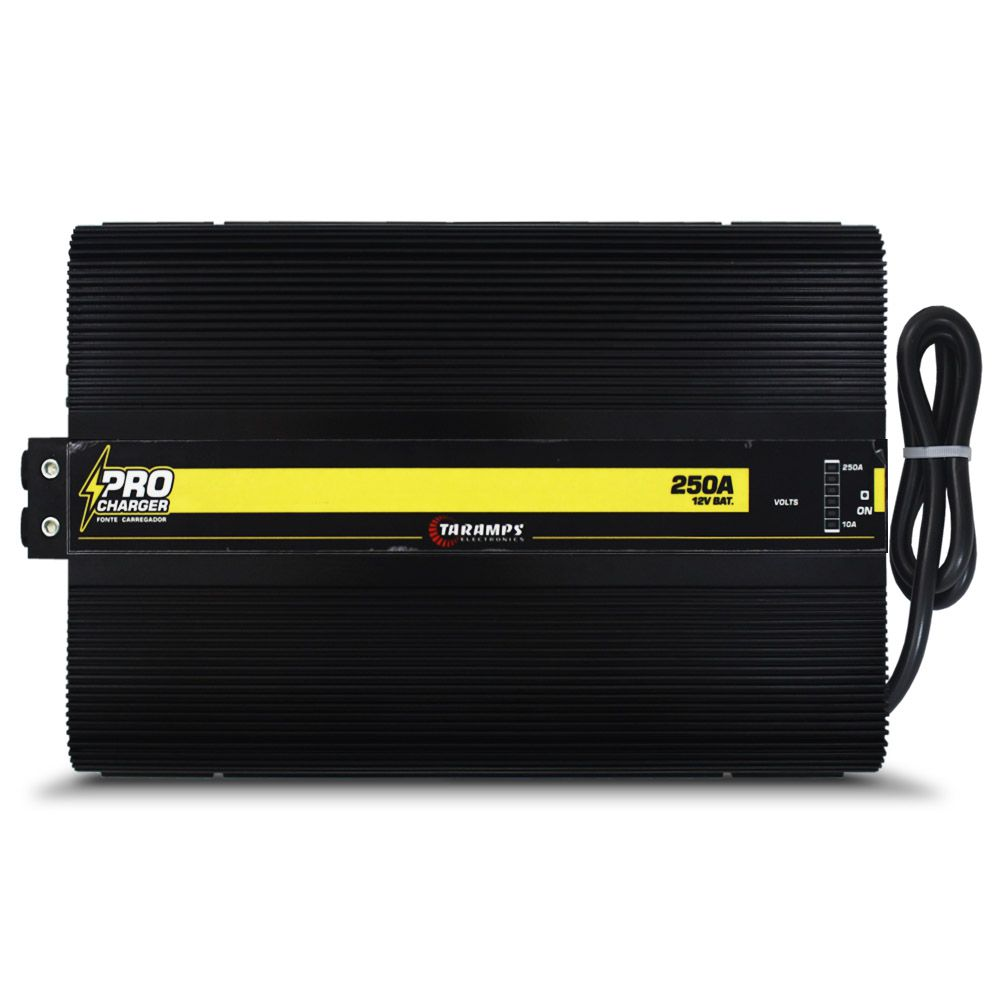 Fonte Automotiva Taramps 250-a Pro Charger Monovolt Digital 12v Smart Cooler Voltímetro Amperímetro Carregador