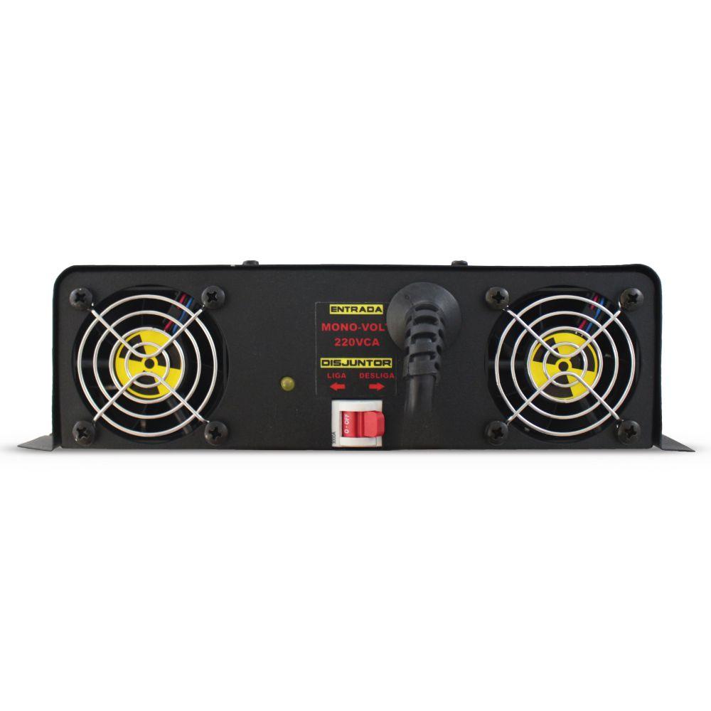 Fonte Automotiva Usina 260-a Monovolt Digital 12v Slim Smart Cooler Voltímetro Amperímetro Carregador Ajuste Corrente