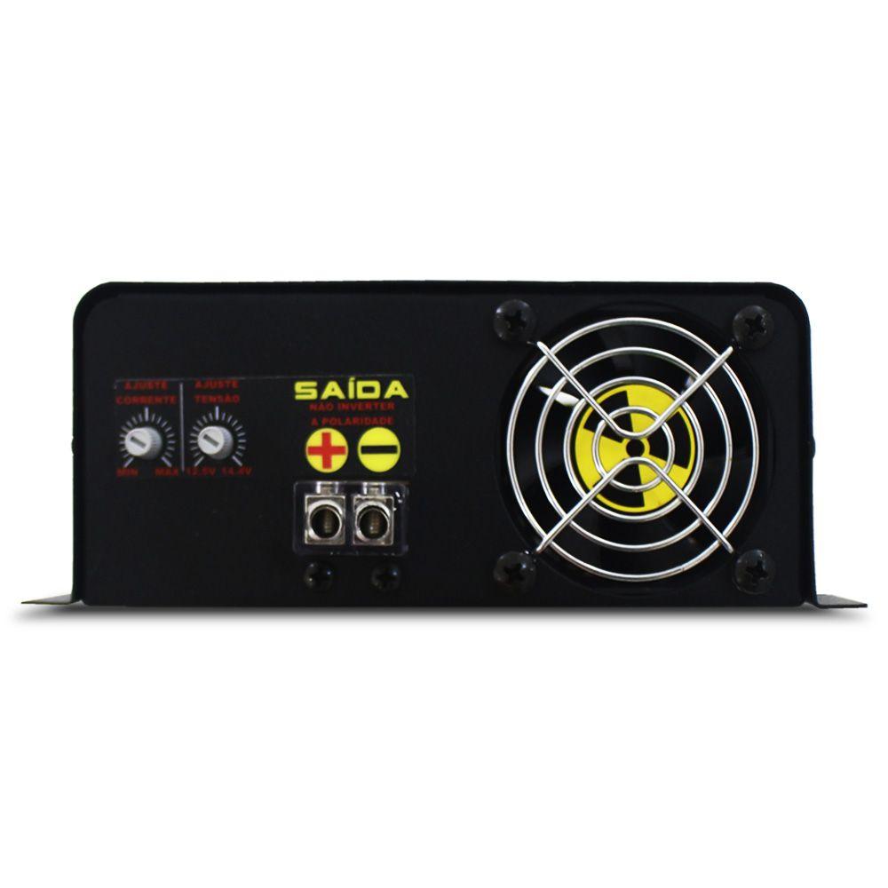 Fonte Automotiva Usina 60-a Bivolt Digital 12v Plus + Battery Meter Smart Cooler Carregador Ajuste Corrente Tensão