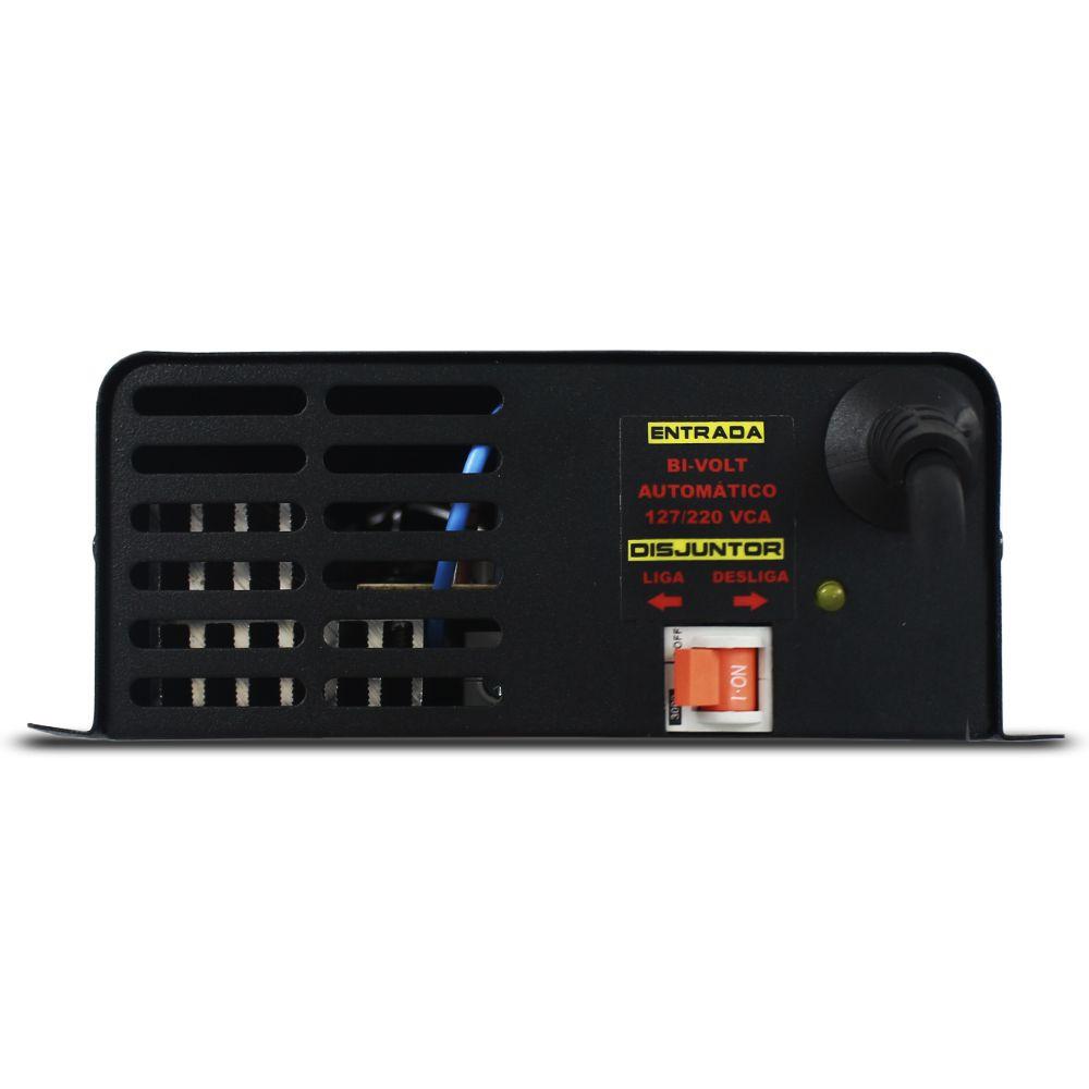 Fonte Automotiva Usina 60-a Bivolt Digital 12v Plus + Smart Cooler Voltímetro Amperímetro Smart Charger Carregador