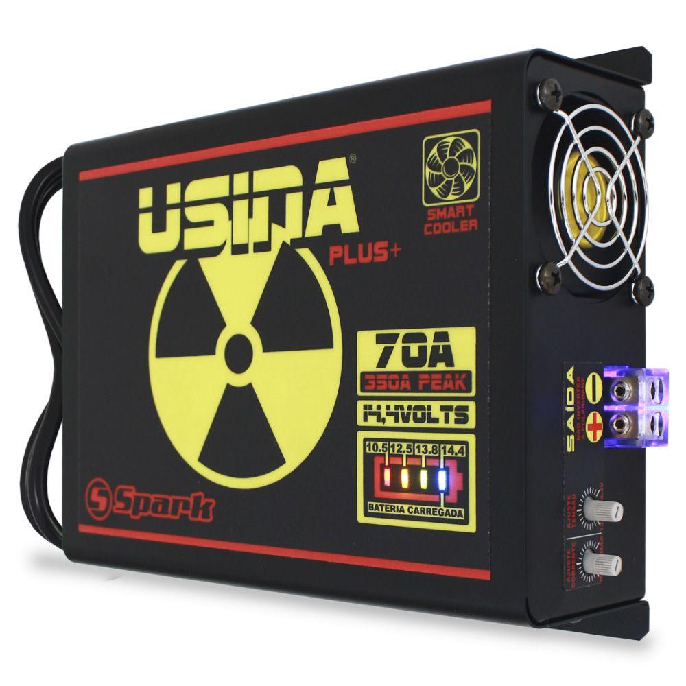 Fonte Automotiva Usina 70-a Bivolt Digital 12v Plus + Battery Meter Smart Cooler Carregador Ajuste Corrente Tensão