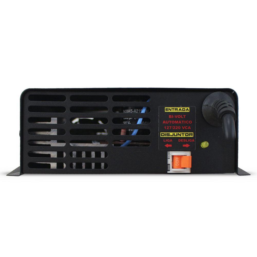 Fonte Automotiva Usina 90-a Bivolt Digital 12v Plus + Battery Meter Smart Cooler Carregador Ajuste Corrente Tensão