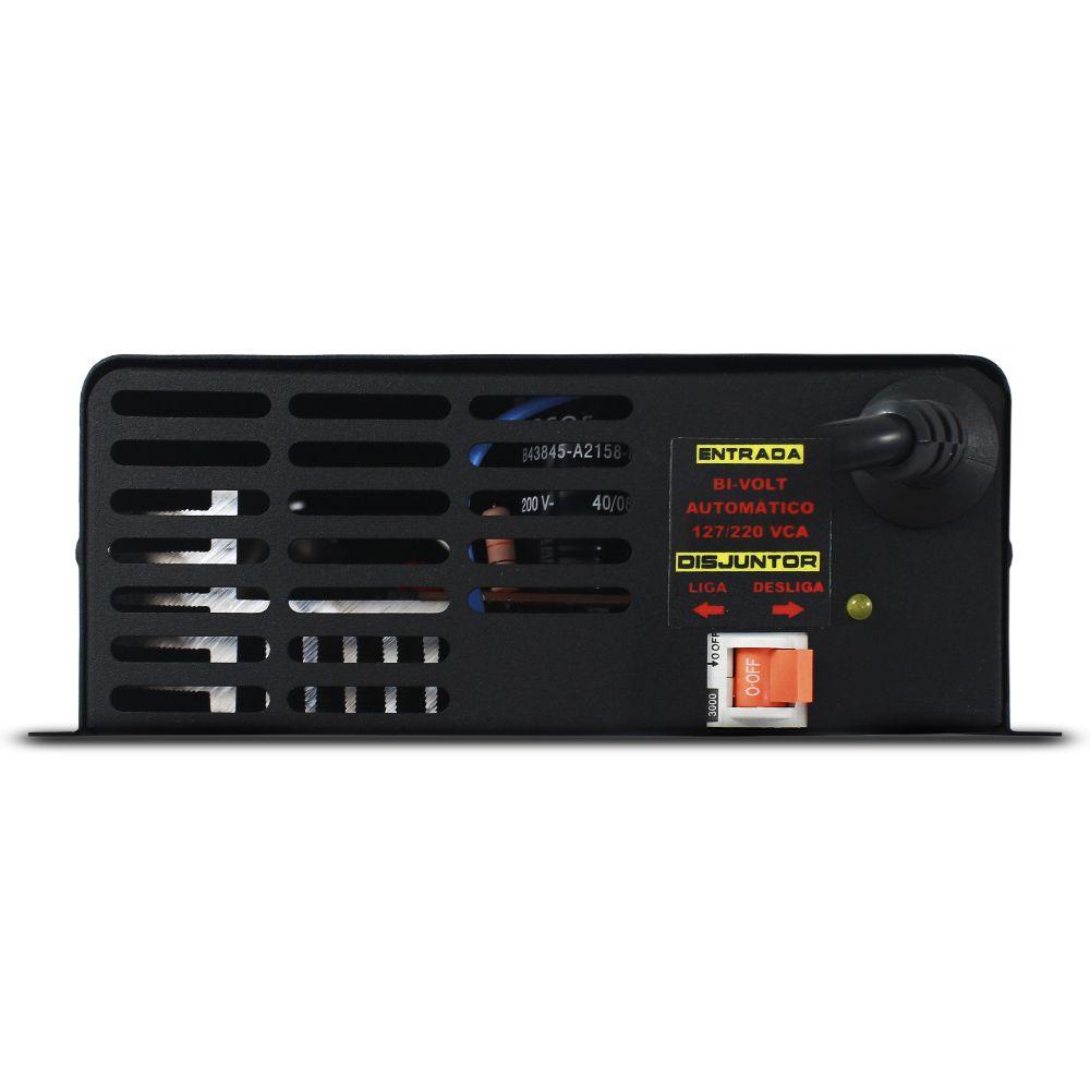 Fonte Automotiva Usina 90-a Bivolt Digital 12v Plus + Smart Cooler Voltímetro Amperímetro Smart Charger Carregador