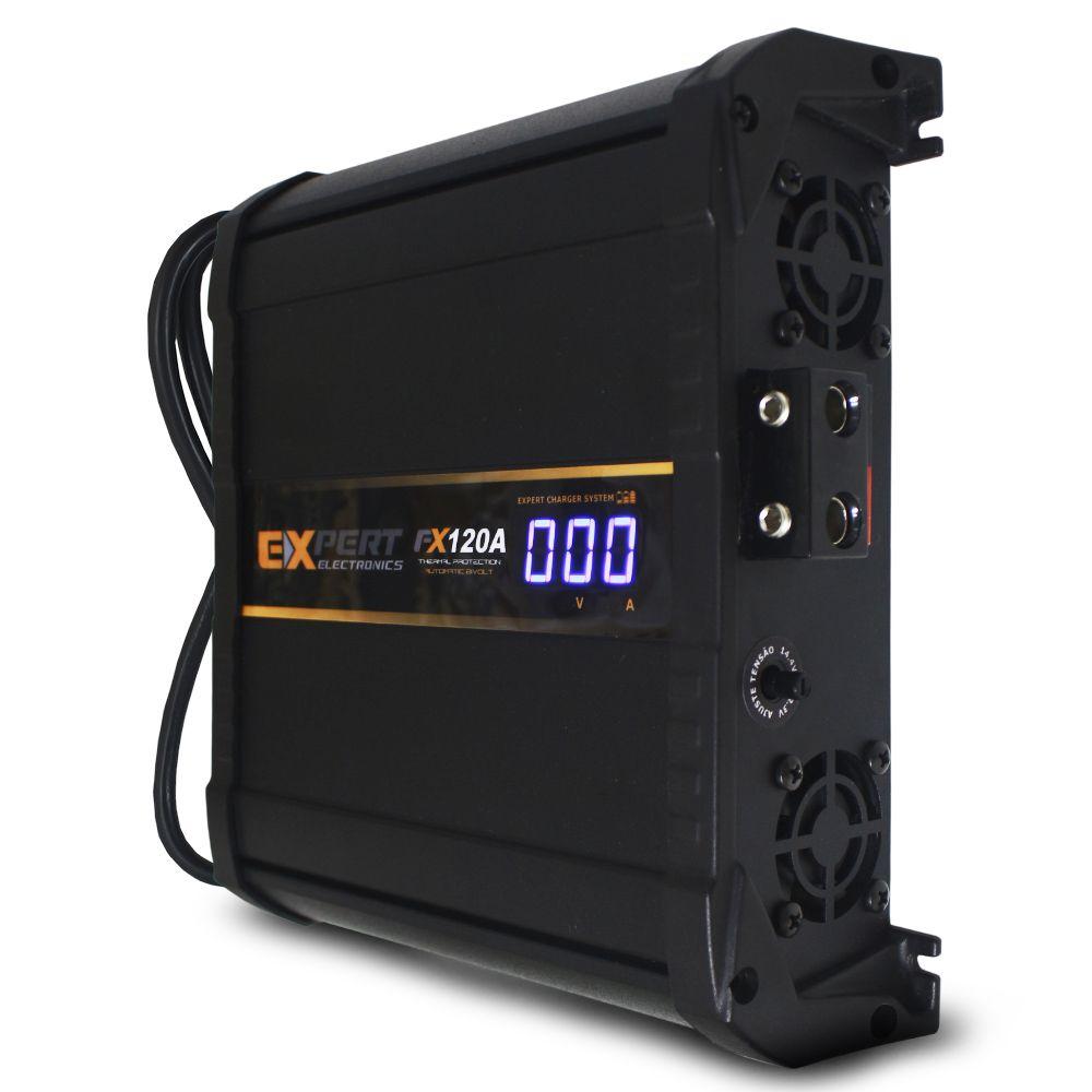 Fonte Fonte Automotiva Expert 120-a Bivolt Digital 12v FX-120 Smart Cooler Voltímetro Amperímetro Smart Charger