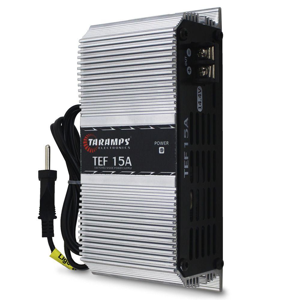 Fonte Taramps 15-a Amperes TEF-15A Monovolt Digital 12v