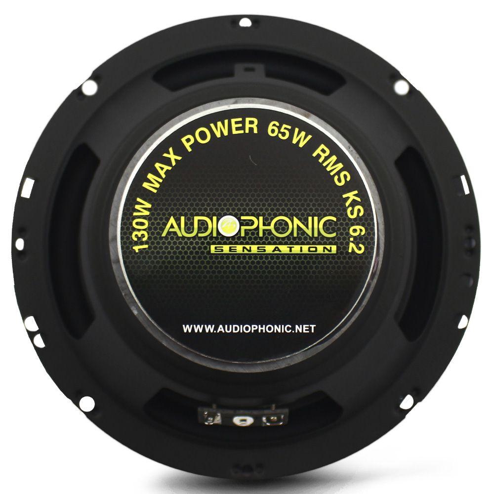 Kit 2 Vias Audiophonic 6 Polegadas KS-6.2 130 Rms Par
