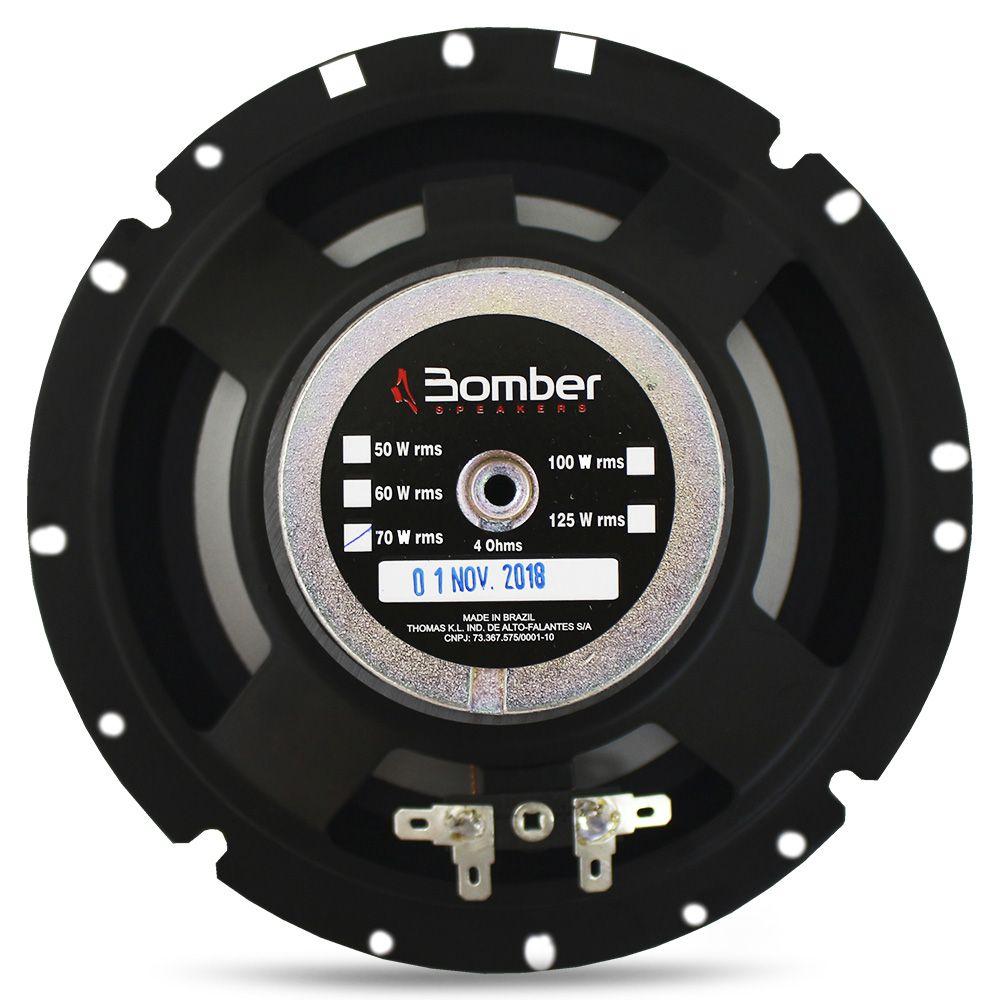 Kit 2 Vias Bomber 6 Polegadas Upgrade 120w Rms Par Alto Falante Mini Tweeter Painel Total 180w Rms