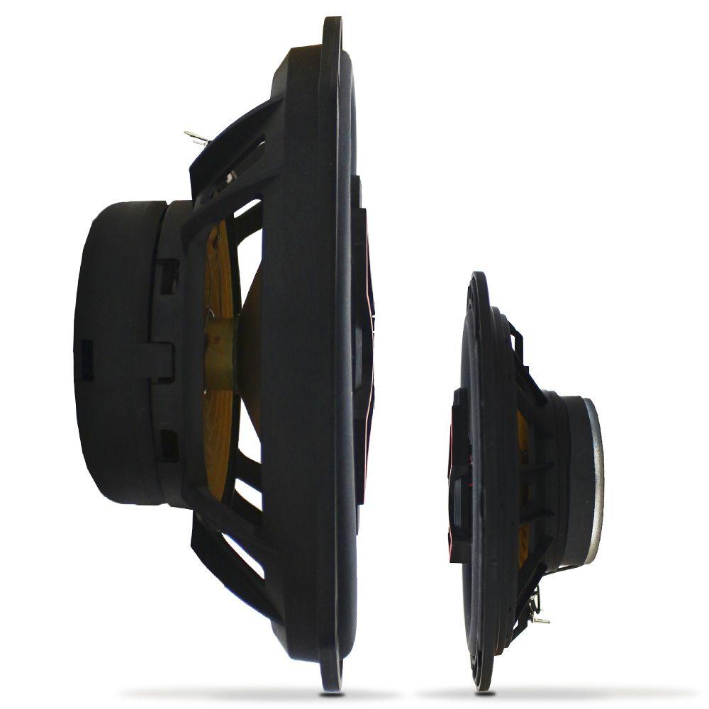 Kit Alto Falante 6 Pol 100w Rms B3X60-X Triaxial 6x9 Pol 140w Rms B4X69-X Quadriaxial Bravox Kit Fácil X 240w Rms
