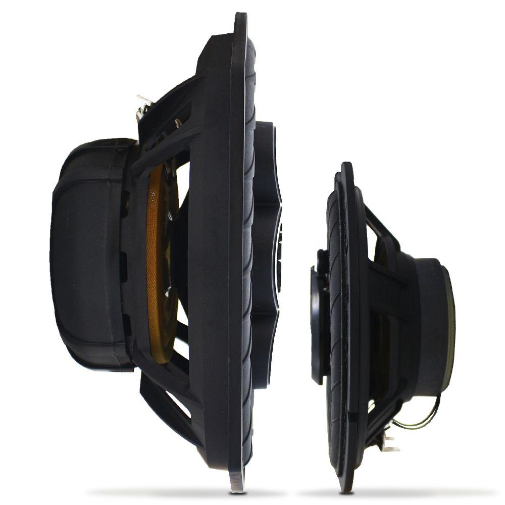 Kit Alto Falante 6 Pol 160w Rms TR6-BK Triaxial 6x9 Pol 220w Rms B4X69-BK Quadriaxial Bravox Kit Fácil Black 380w Rms