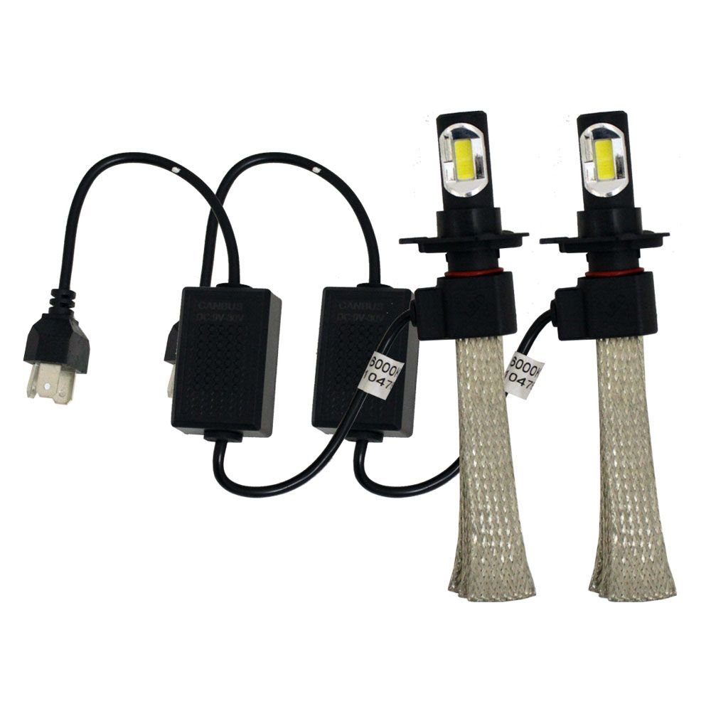 Kit Lampada Super Led H4 6000k Flexível 6400 Lúmens 12v 24v 32w Ray X Bivolt Farol Alto Baixo IP68