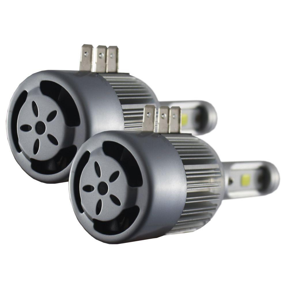 Kit Lampada Super Led Truk H4 H15 6000k 8000 Lúmens 9v 12v 24v 48v 30w Ray X Bivolt Farol Alto Baixo IP68