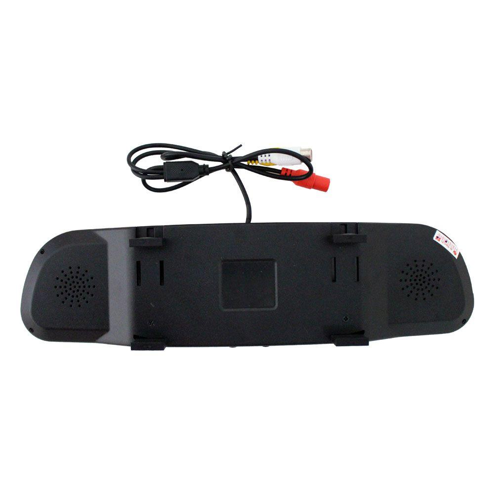 Kit Monitor Lcd Espelho Retrovisor Tela 4.3 Polegadas E-Tech Universal Entrada Camera Ré