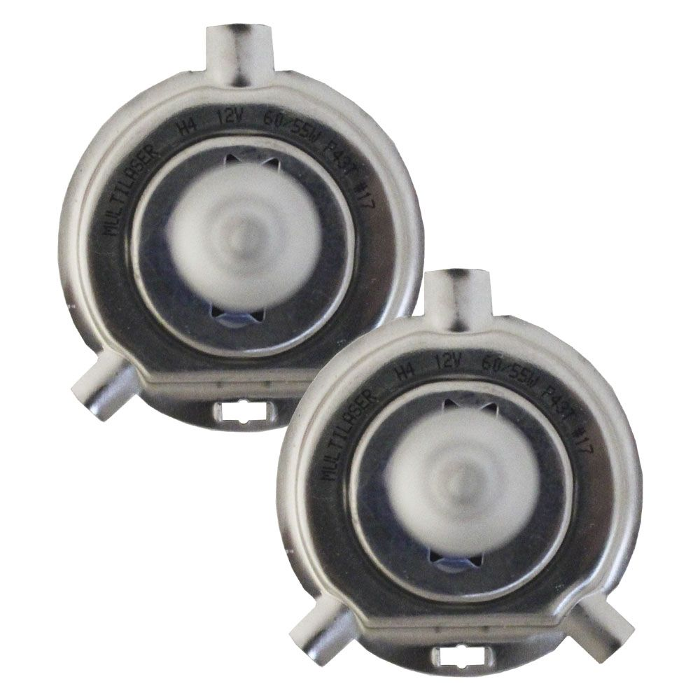 Lampada Super Branca h4 5000k Multilaser 12v 55w Par