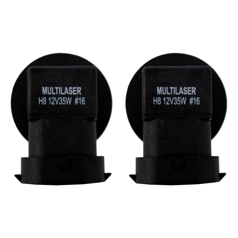 Lampada Super Branca h8 5000k Multilaser 12v 55w Par