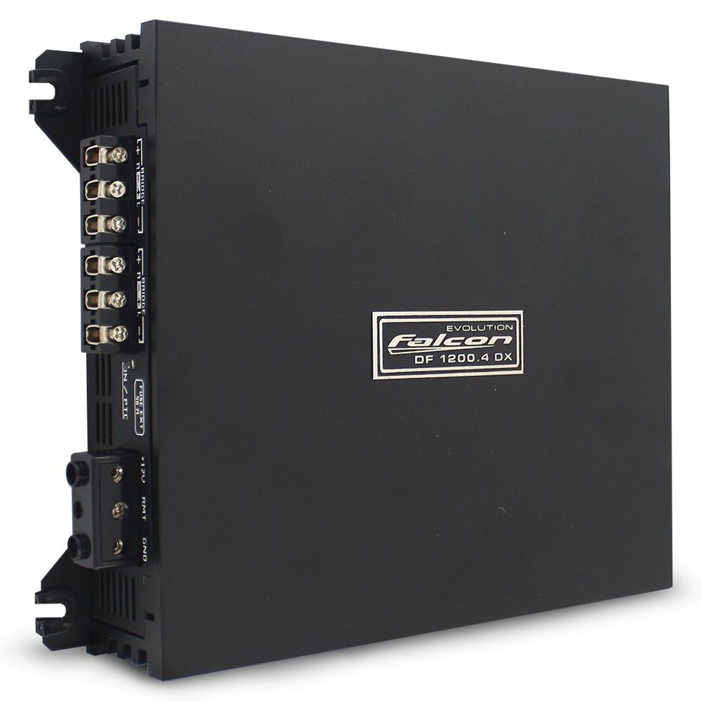 Modulo Amplificador Falcon 1200 Rms DF-1200.4DX Stereo Digital 4 Canais 2 Ohms Classe D Bass Boost Crossover