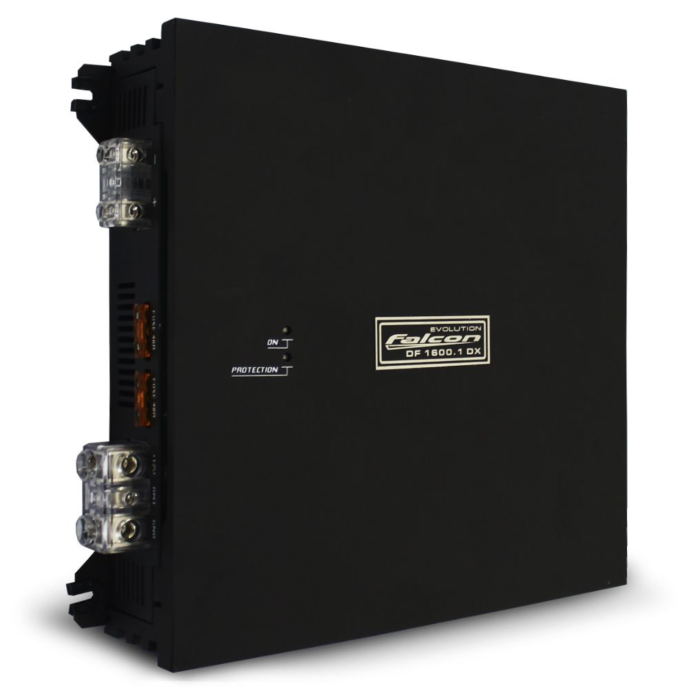 Modulo Amplificador Falcon 1600 Rms DF-1600.1DX Mono Digital 1 Canal 2 Ohms Classe D Crossover Bass Boost