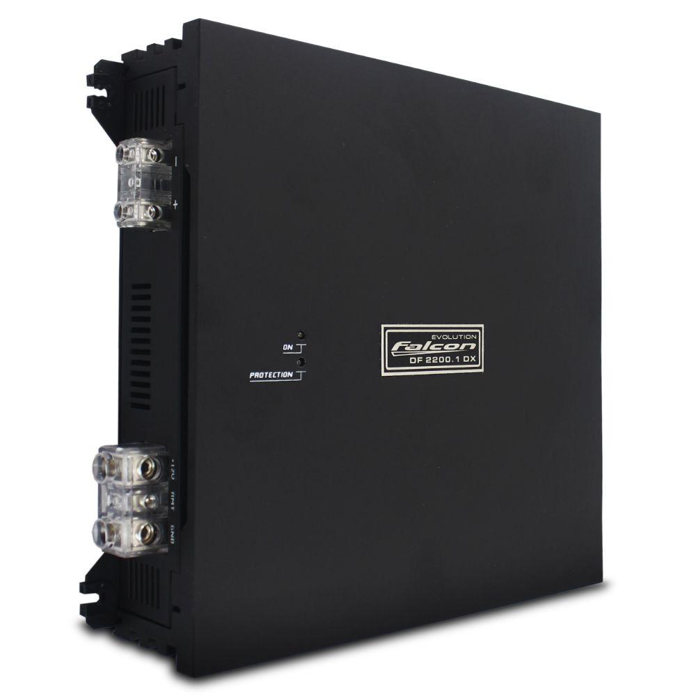 Módulo Amplificador Falcon 2200 Rms DF-2200.1DX Mono Digital 1 Canal 2 Ohms Classe D Crossover Variável Full Range