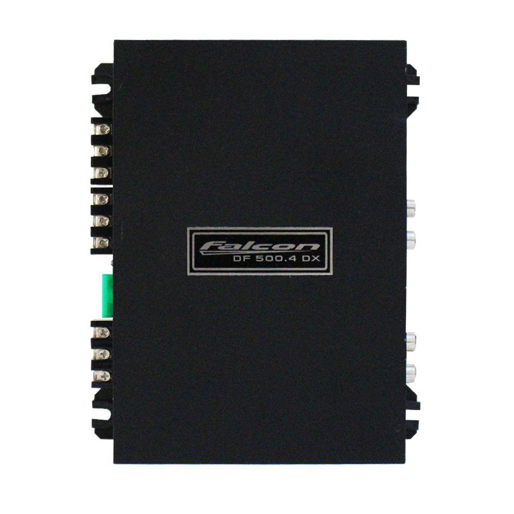 Modulo Amplificador Falcon 500 Rms DF-500.4D Stereo Digital 4 Canais 2 Ohms Classe D Crossover Gain Control