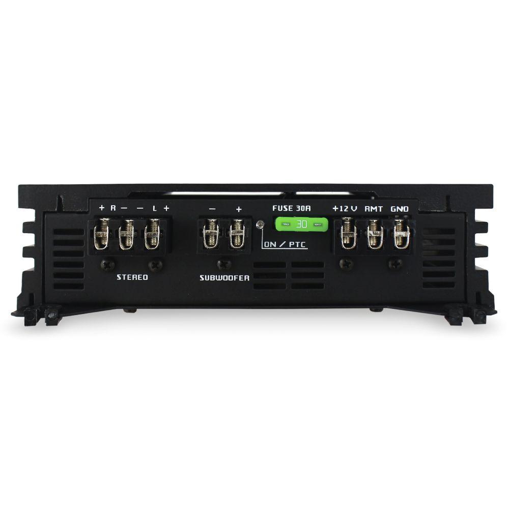 Modulo Amplificador Falcon 550 Rms HS-1500DX Mono Stereo 3 Canais 2 Ohms Classe D Crossover Bass Boost Gain Control