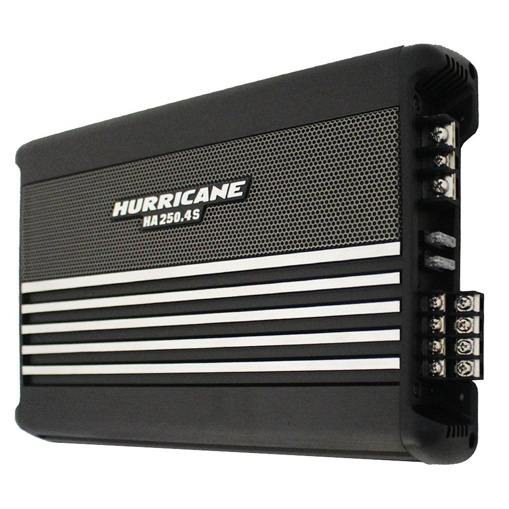 Modulo Amplificador Hurricane 1000 Rms HA-250.4S Stereo Mosfet 4 Canais 2 Ohms Classe AB Crossover Full Range