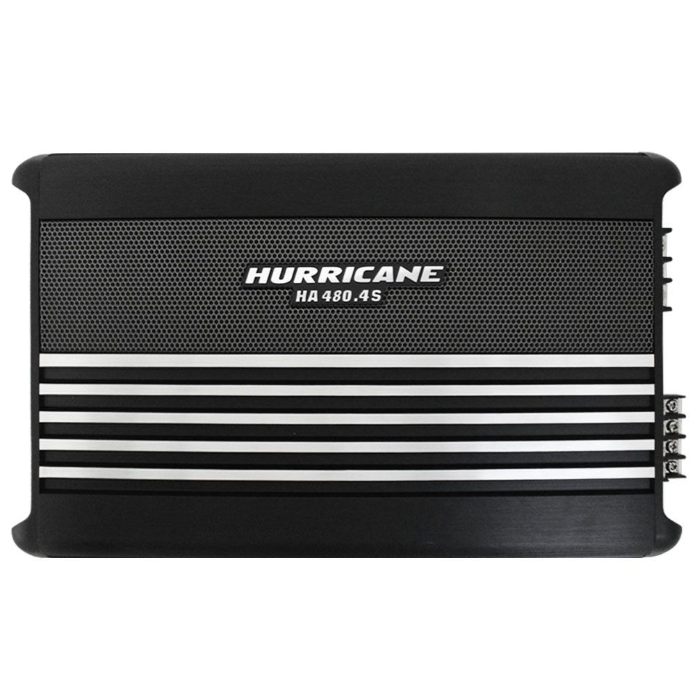 Modulo Amplificador Hurricane 1920 Rms HA-480.4S Stereo Mosfet 4 Canais 2 Ohms Classe AB Crossover Full Range