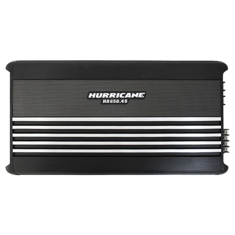 Módulo Amplificador Hurricane 2600 Rms HA-650.4S Stereo Mosfet 4 Canais 2 Ohms Classe AB Crossover Full Range