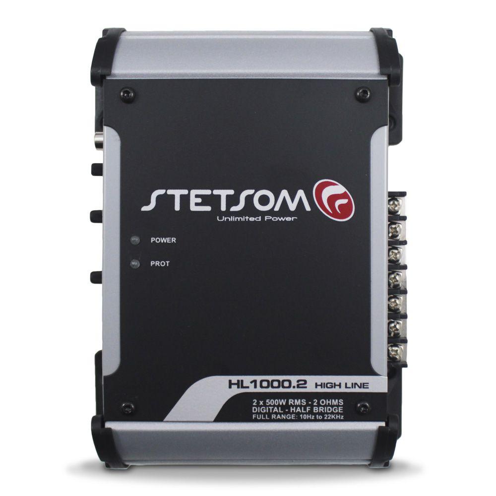 Modulo Amplificador Stetsom 1000 Rms HL-1000.2 High Line Stereo Digital 2 Canais 2 Ohms Classe D Full Range