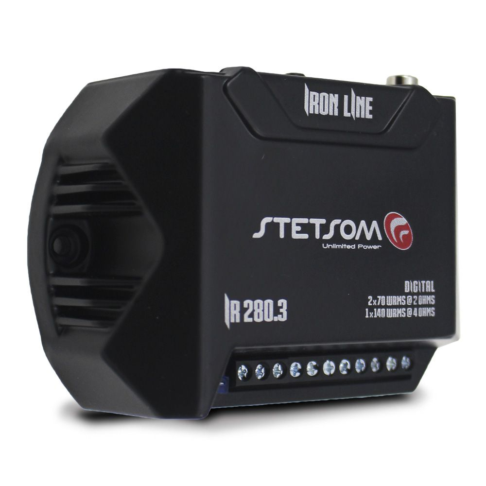 Modulo Amplificador Stetsom 280 Rms IR-280.3 Iron Line Mono Stereo Digital 3 Canais 2 Ohms Classe D Rca Crossover