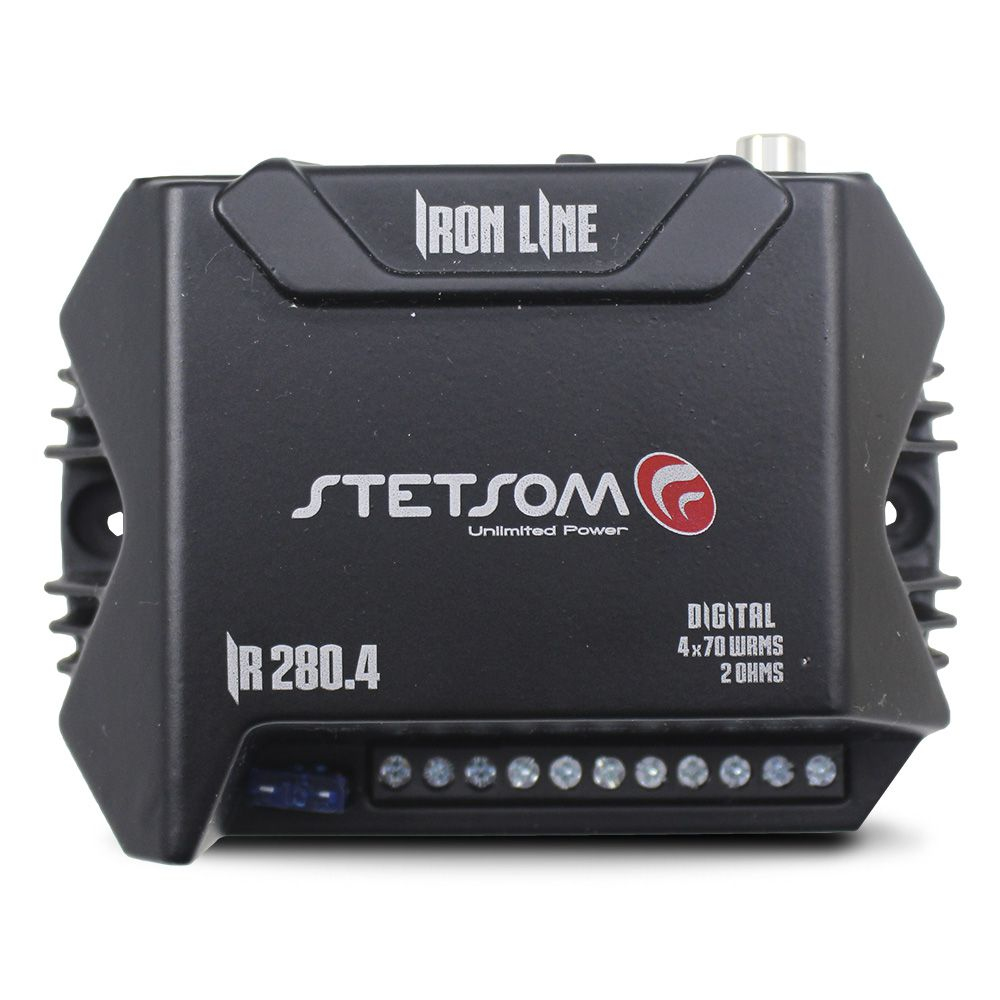 Modulo Amplificador Stetsom 280 Rms IR-280.4 Iron Line Stereo Digital 4 Canais 2 Ohms Classe D Rca Crossover Full Range