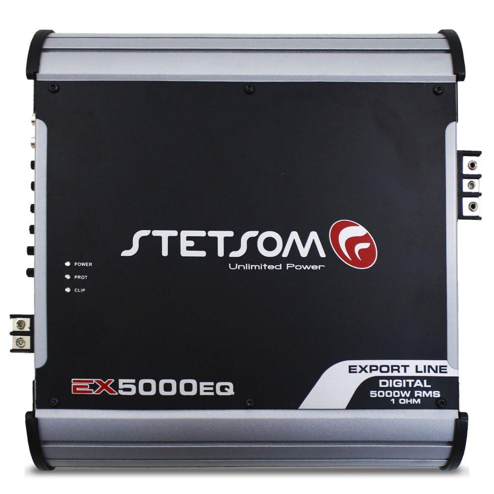 Módulo Amplificador Stetsom 5000 Rms EX-5000EQ Export Line Mono Digital 1 Canal 1 Ohm 2 Ohms Classe D Crossover