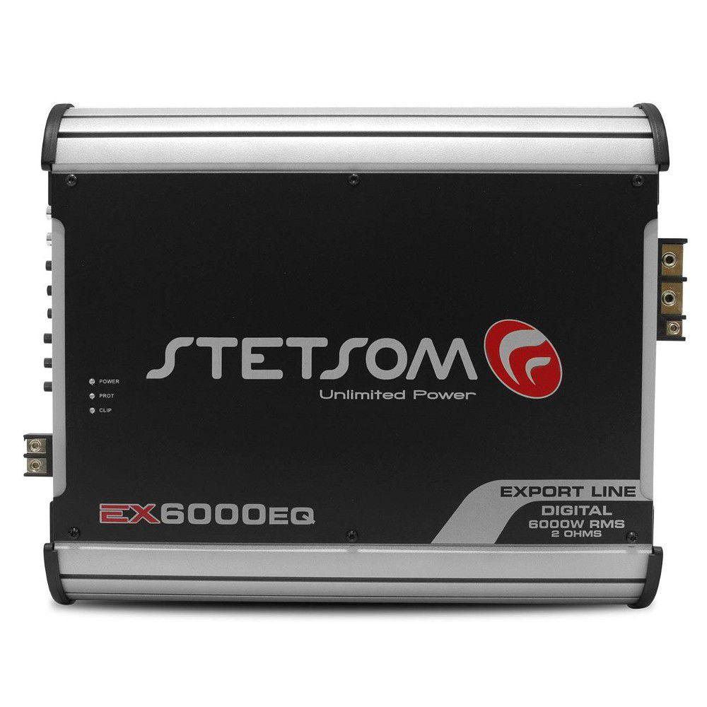 Módulo Amplificador Stetsom 6000 Rms EX-6000EQ Export Line Mono Digital 1 Canal 1 Ohm 2 Ohms Classe D Crossover