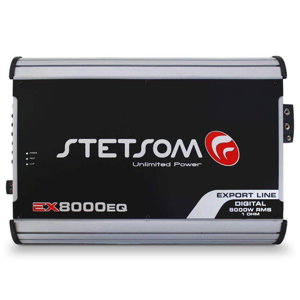 Modulo Amplificador Stetsom 8000 Rms EX-8000EQ Export Line Mono Digital 1 Canal 1 Ohm 2 Ohms Classe D Crossover