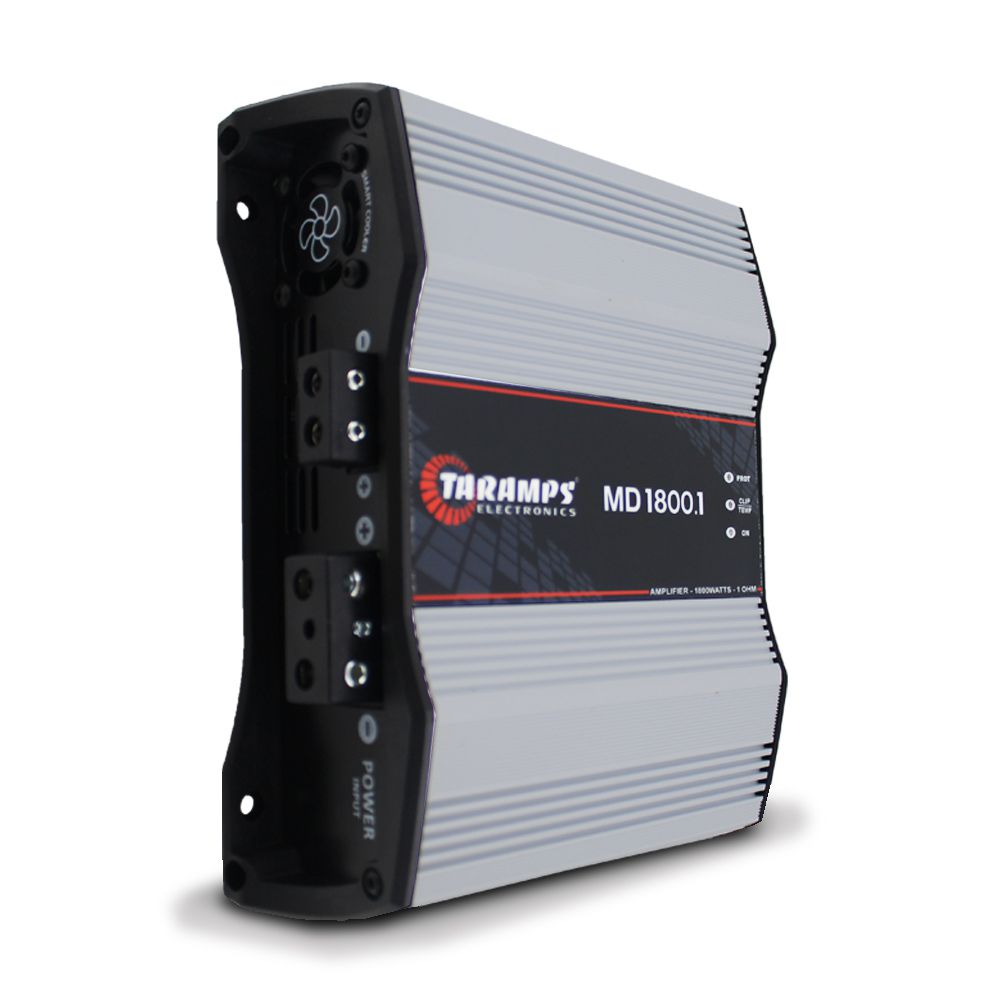Modulo Amplificador Taramps 1800 Rms MD-1800.1 Mono Digital 1 Canal 1 Ohm 2 Ohms 4 Ohms Classe D Bass Boost
