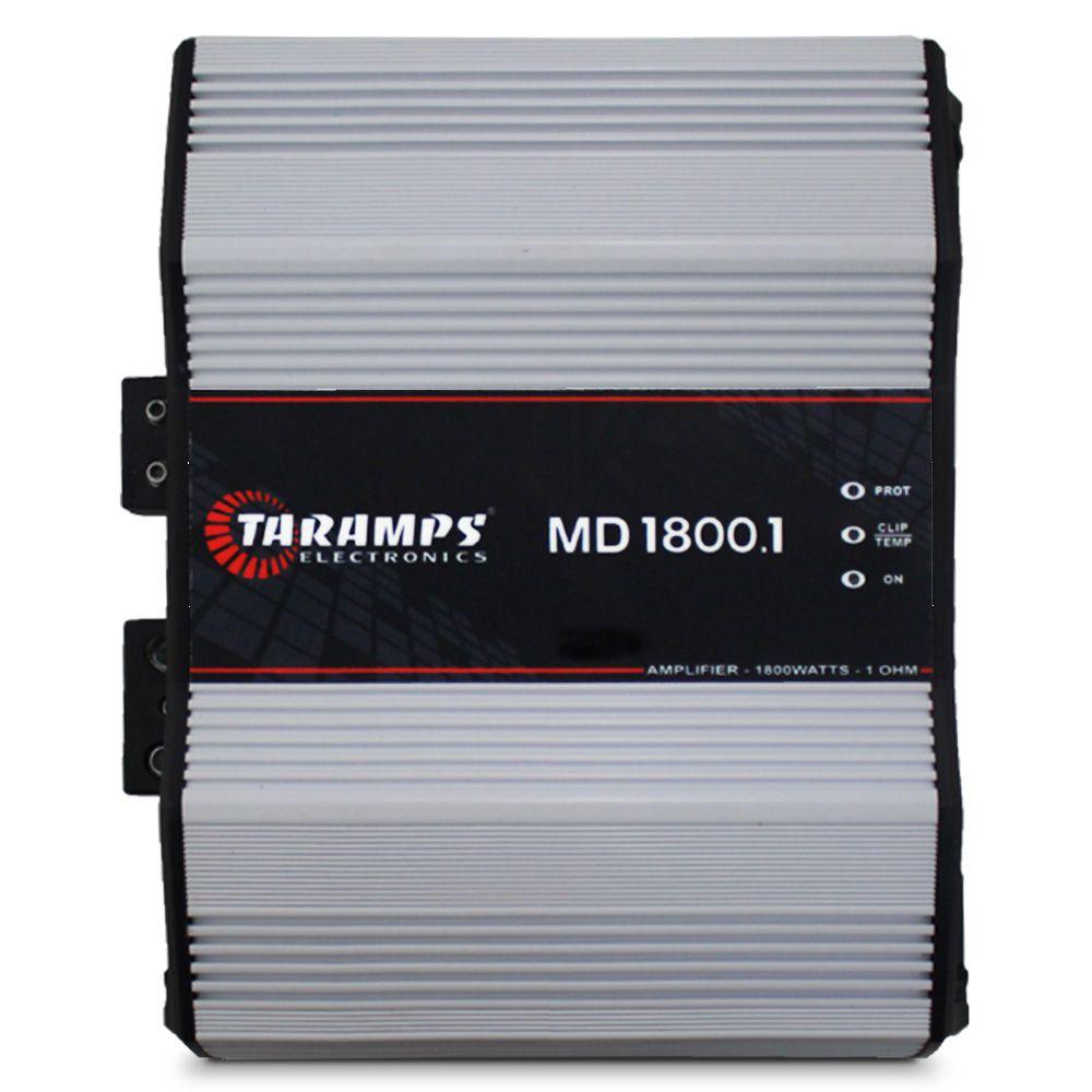 Modulo Amplificador Taramps 1800 Rms MD-1800.1 Mono Digital 1 Canal 1 Ohm 2 Ohms e 4 Ohms  Classe D Bass Boost