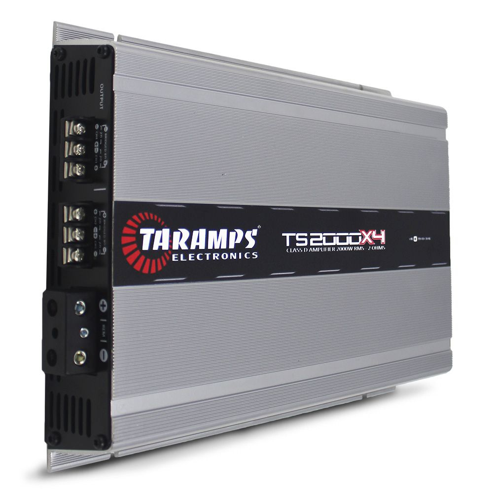 Modulo Amplificador Taramps 2000 Rms TS-2000X4 Stereo Digital 4 Canais 2 Ohms Classe D Bass Boost Crossover