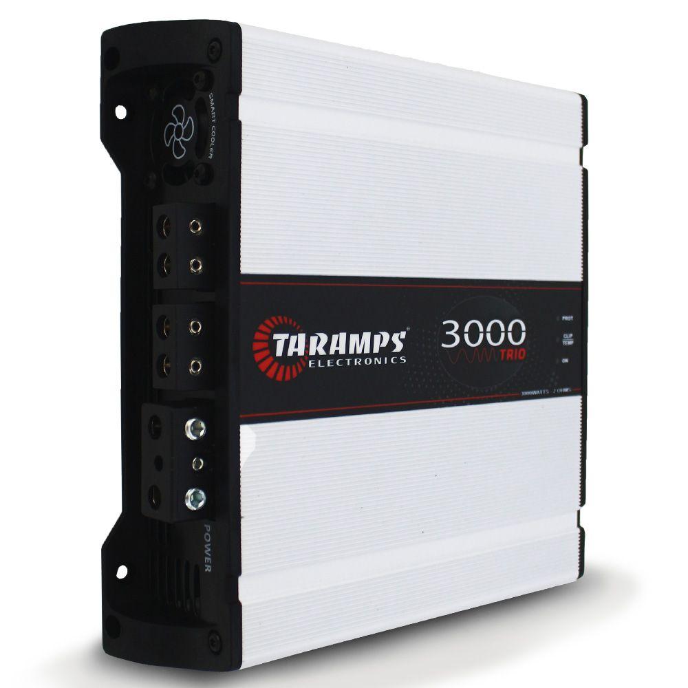 Modulo Amplificador Taramps 3000 Rms 3000 TRIO Mono Stereo 2 Canais Digital  2 Ohms 4 Ohms Classe D Crossover