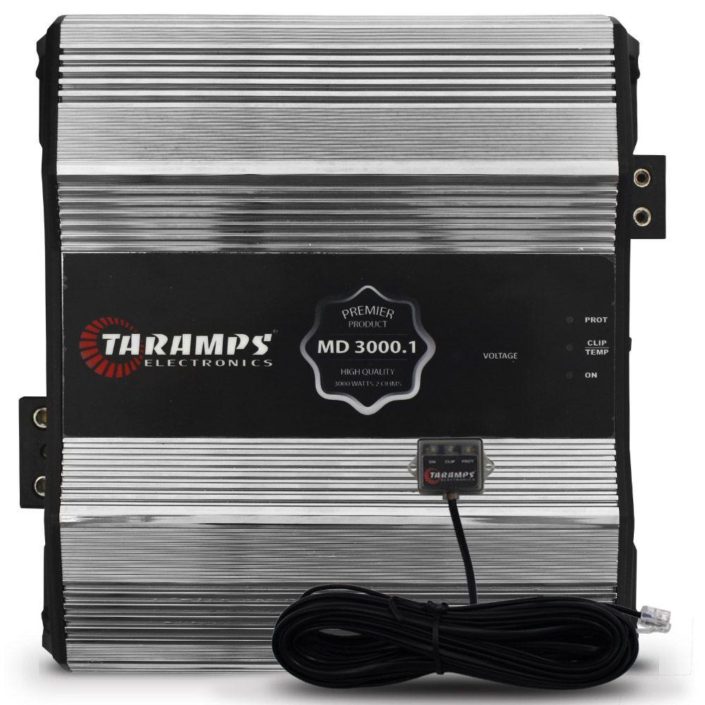 Modulo Amplificador Taramps 3000 Rms MD-3000.1 PREMIER Mono Digital 1 Canal 1 Ohm 2 Ohms 4 Ohms Classe D