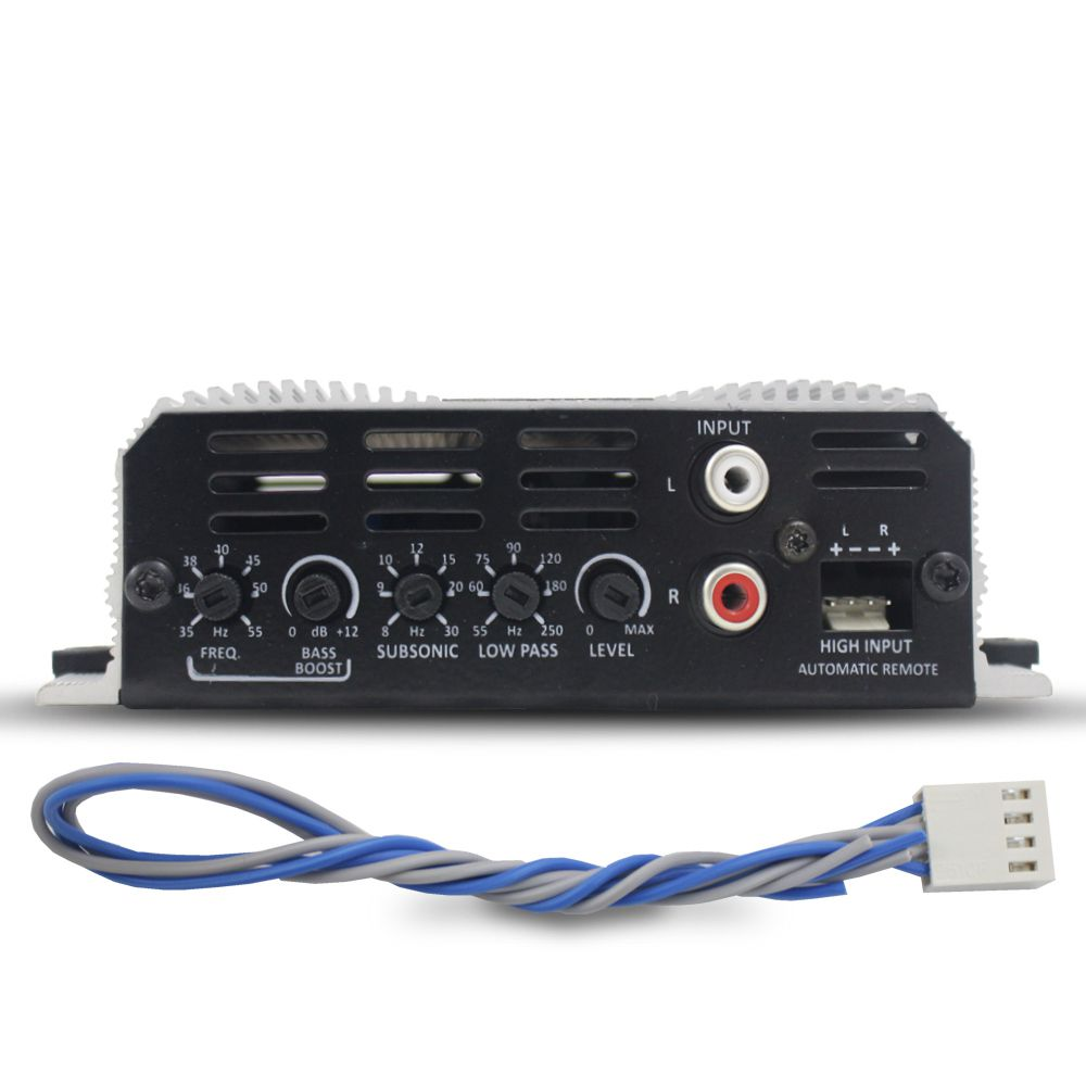 Modulo Amplificador Taramps 400 Rms BASS-400 Mono Digital 1 Canal 2 Ohms Classe D Fio Bass Boost Crossover